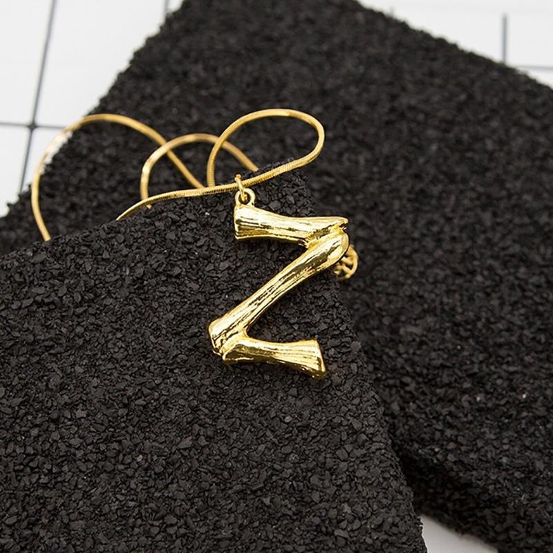Joya-Collar-De-Letra-Collar-Colgante-De-Cadena-De-Oro-Pendiente-De-Grande-L-Z6M8 miniatura 101