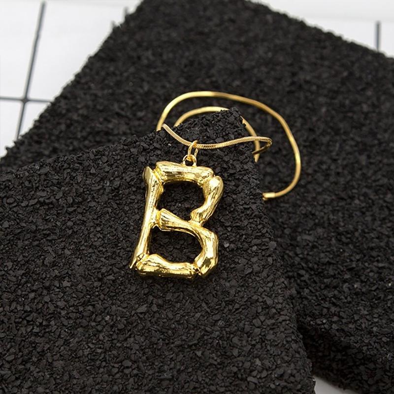 Joya-Collar-De-Letra-Collar-Colgante-De-Cadena-De-Oro-Pendiente-De-Grande-L-Z6M8 miniatura 115