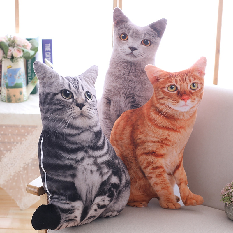 1pc-50cm-Simulation-Plush-Cat-Pillows-Soft-Stuffed-Animals-Cushion-Sofa-Decor-Ca thumbnail 3