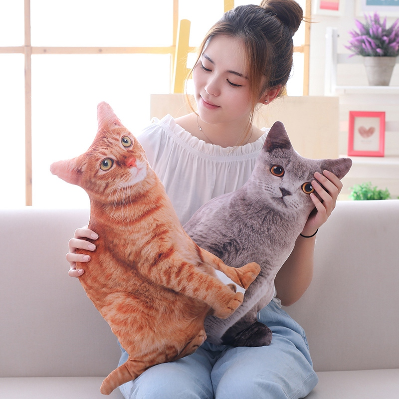 1pc-50cm-Simulation-Plush-Cat-Pillows-Soft-Stuffed-Animals-Cushion-Sofa-Decor-Ca thumbnail 4