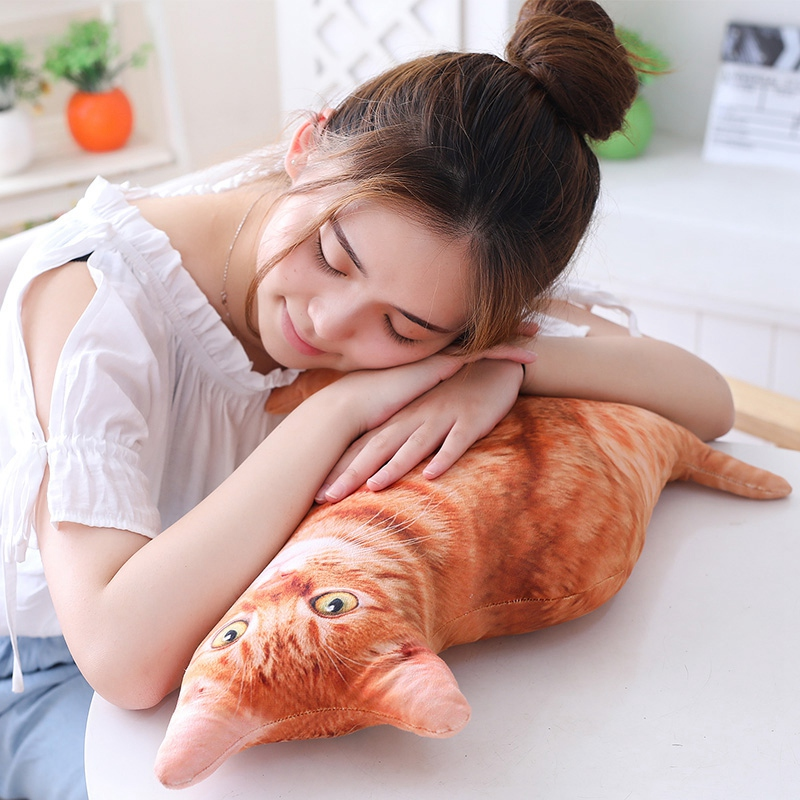 1pc-50cm-Simulation-Plush-Cat-Pillows-Soft-Stuffed-Animals-Cushion-Sofa-Decor-Ca thumbnail 5