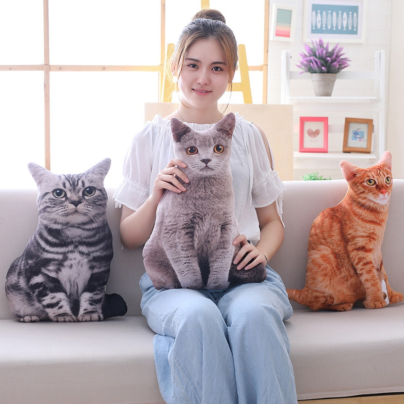 1pc-50cm-Simulation-Plush-Cat-Pillows-Soft-Stuffed-Animals-Cushion-Sofa-Decor-Ca thumbnail 7