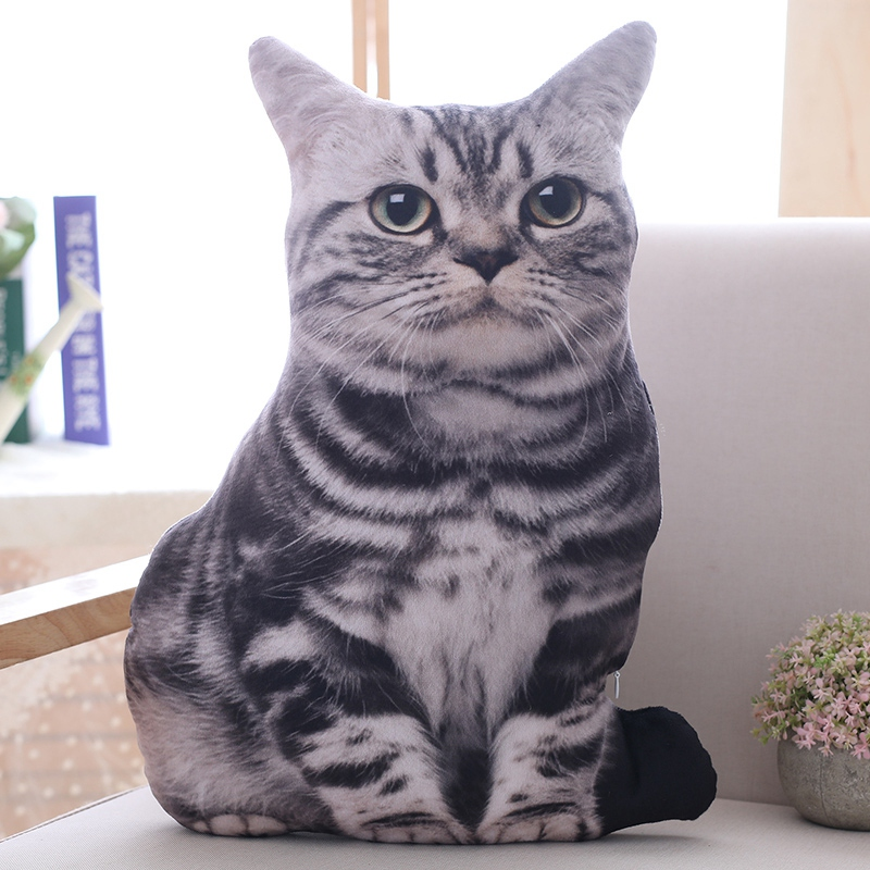 1pc-50cm-Simulation-Plush-Cat-Pillows-Soft-Stuffed-Animals-Cushion-Sofa-Decor-Ca thumbnail 10