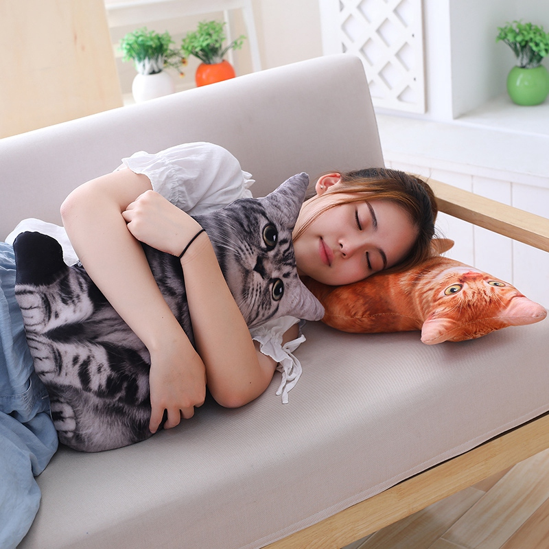 1pc-50cm-Simulation-Plush-Cat-Pillows-Soft-Stuffed-Animals-Cushion-Sofa-Decor-Ca thumbnail 11
