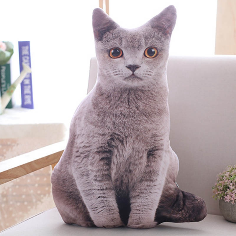 1pc-50cm-Simulation-Plush-Cat-Pillows-Soft-Stuffed-Animals-Cushion-Sofa-Decor-Ca thumbnail 19