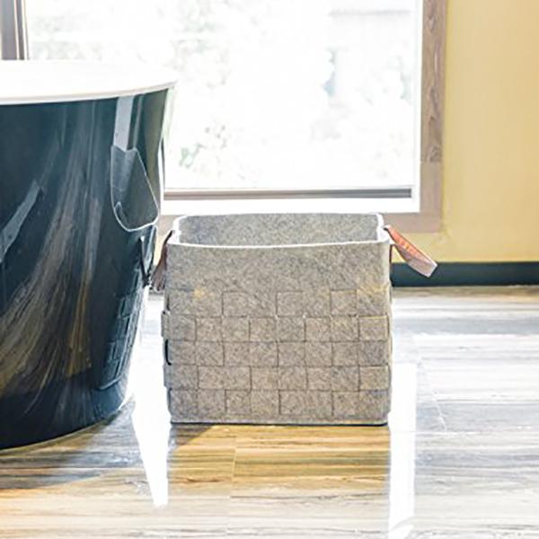 Felt-Storage-Baskets-With-Handles-Soft-Durable-Toy-Storage-Nursery-Bins-Home-Dec thumbnail 12