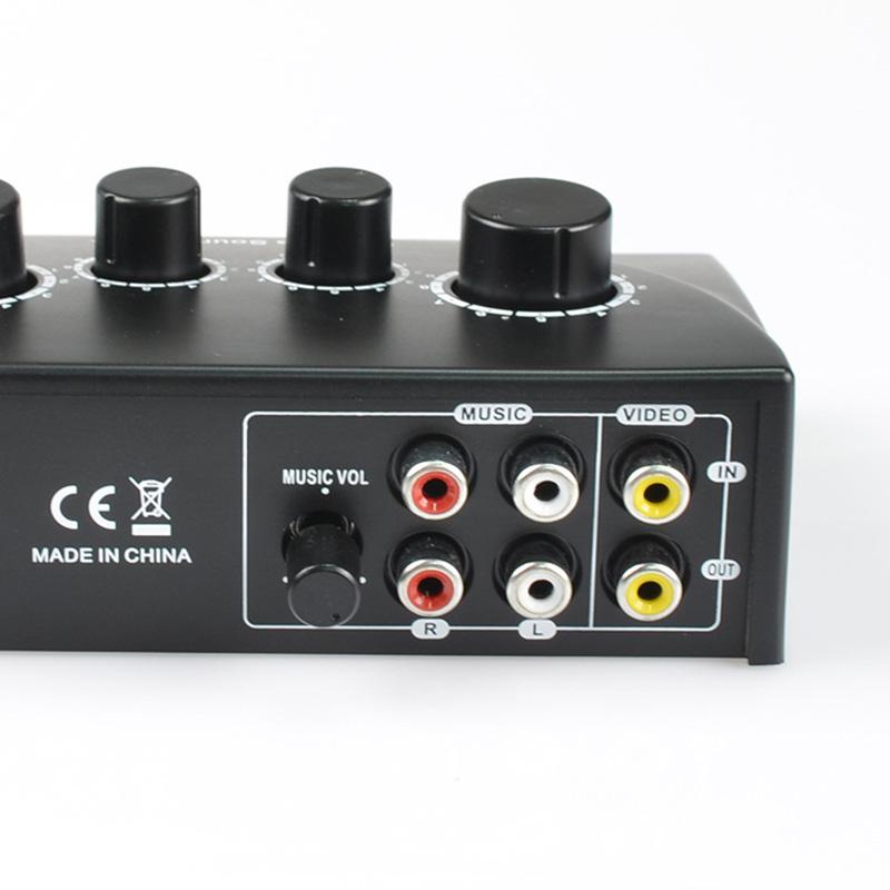 Tragbar-Doppel-Mic-Eingaenge-Audio-Sound-Mixer-Fuer-Verstaerker-Und-Mikrofon-K-K5S7 Indexbild 10