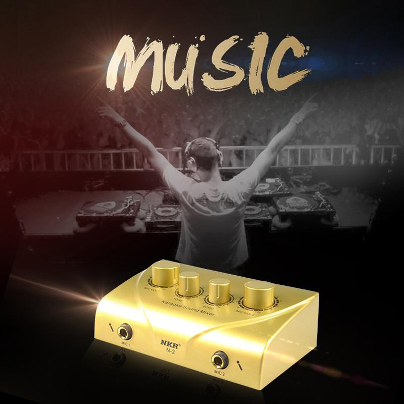 Tragbar-Doppel-Mic-Eingaenge-Audio-Sound-Mixer-Fuer-Verstaerker-Und-Mikrofon-K-K5S7 Indexbild 13