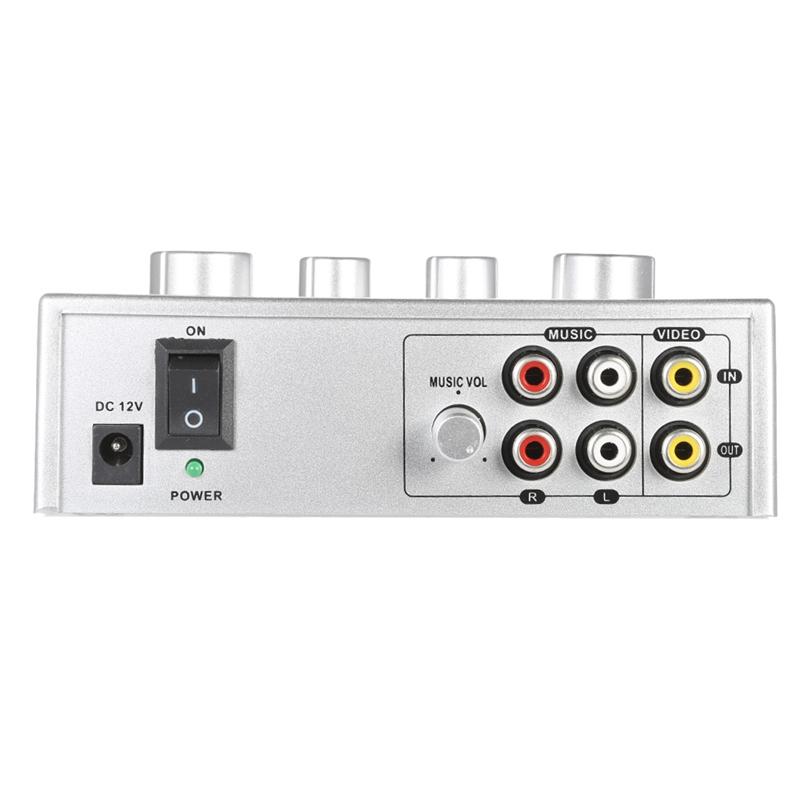 Tragbar-Doppel-Mic-Eingaenge-Audio-Sound-Mixer-Fuer-Verstaerker-Und-Mikrofon-K-K5S7 Indexbild 16