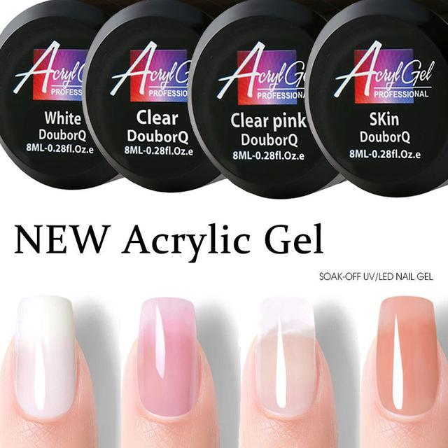 2X-Douborq-Uv-Builder-Gel-Crystal-Nails-Transparent-Uv-Gel-For-French-Art-T-U1M9 thumbnail 3