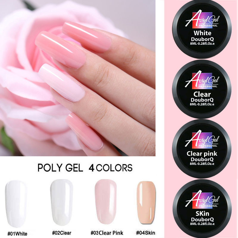 2X-Douborq-Uv-Builder-Gel-Crystal-Nails-Transparent-Uv-Gel-For-French-Art-T-U1M9 thumbnail 6