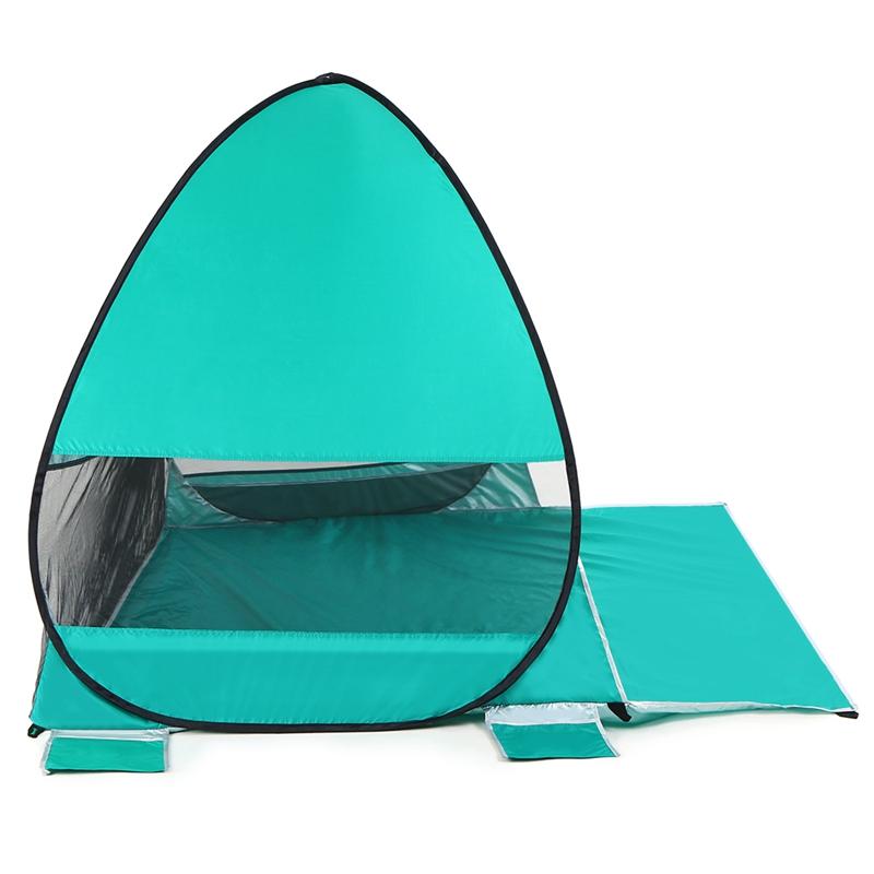Tente-De-Plage-Automatique-Cabane-Portable-Upf-50-Abri-Soleil-Auvent-De-PEC-8Z5 miniature 3