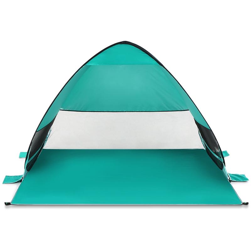 Tente-De-Plage-Automatique-Cabane-Portable-Upf-50-Abri-Soleil-Auvent-De-PEC-8Z5 miniature 4