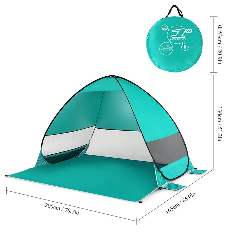 Tente-De-Plage-Automatique-Cabane-Portable-Upf-50-Abri-Soleil-Auvent-De-PEC-8Z5 miniature 5