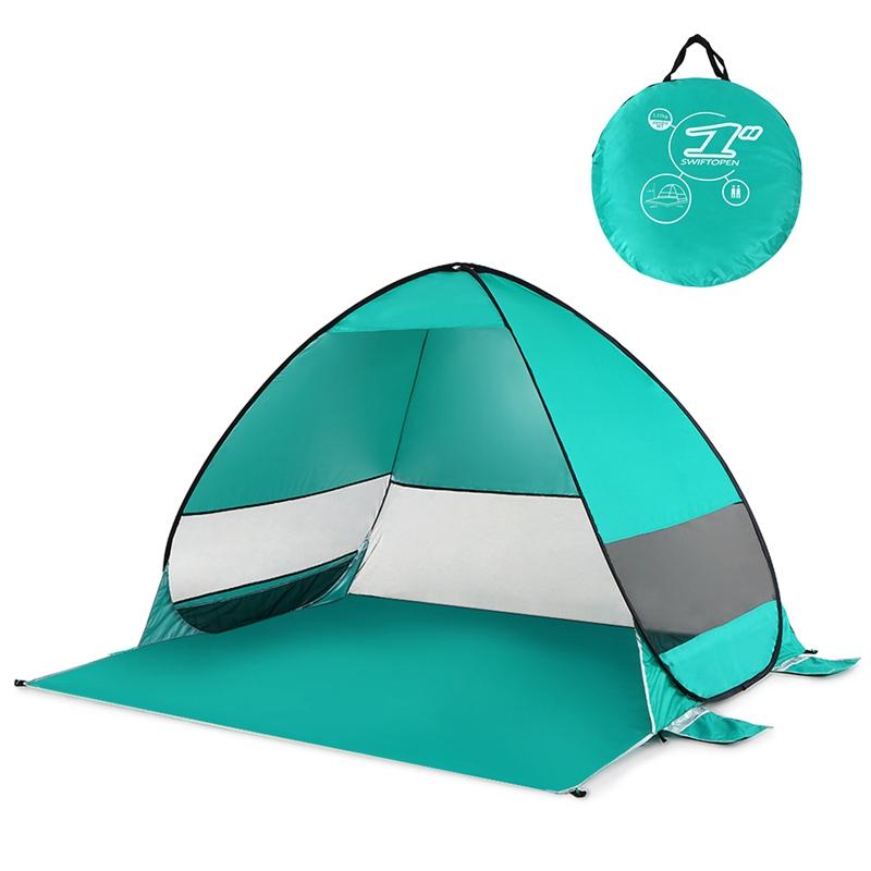 Tente-De-Plage-Automatique-Cabane-Portable-Upf-50-Abri-Soleil-Auvent-De-PEC-8Z5 miniature 6
