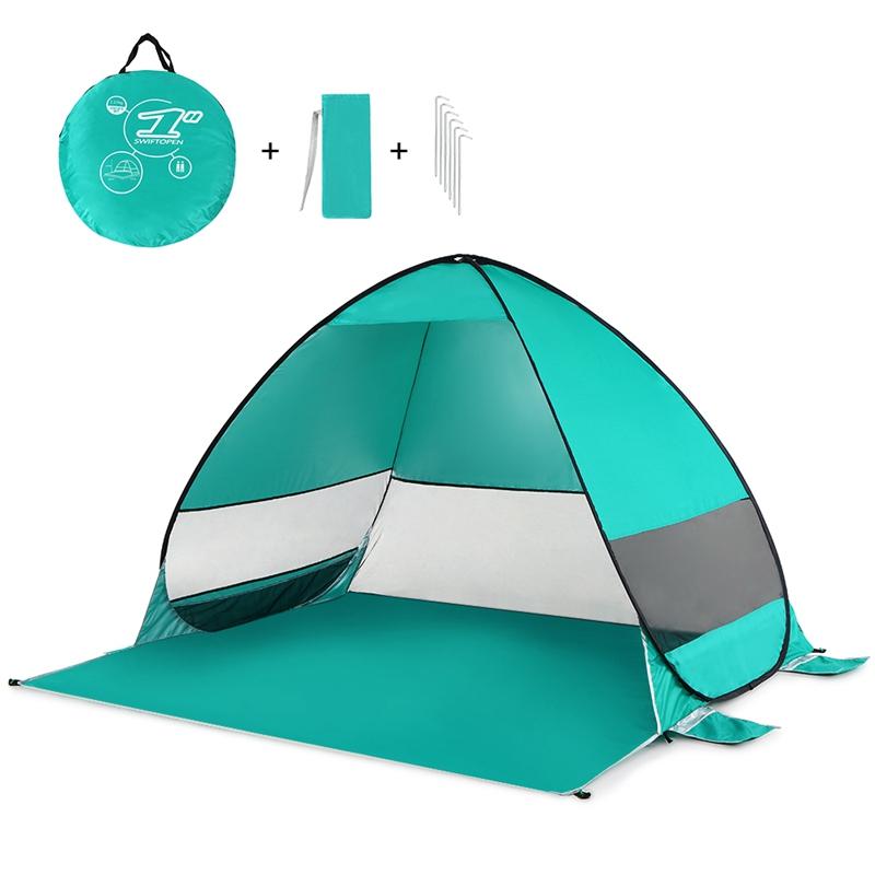 Tente-De-Plage-Automatique-Cabane-Portable-Upf-50-Abri-Soleil-Auvent-De-PEC-8Z5 miniature 7