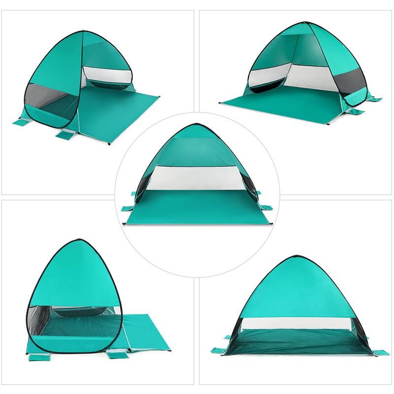 Tente-De-Plage-Automatique-Cabane-Portable-Upf-50-Abri-Soleil-Auvent-De-PEC-8Z5 miniature 8