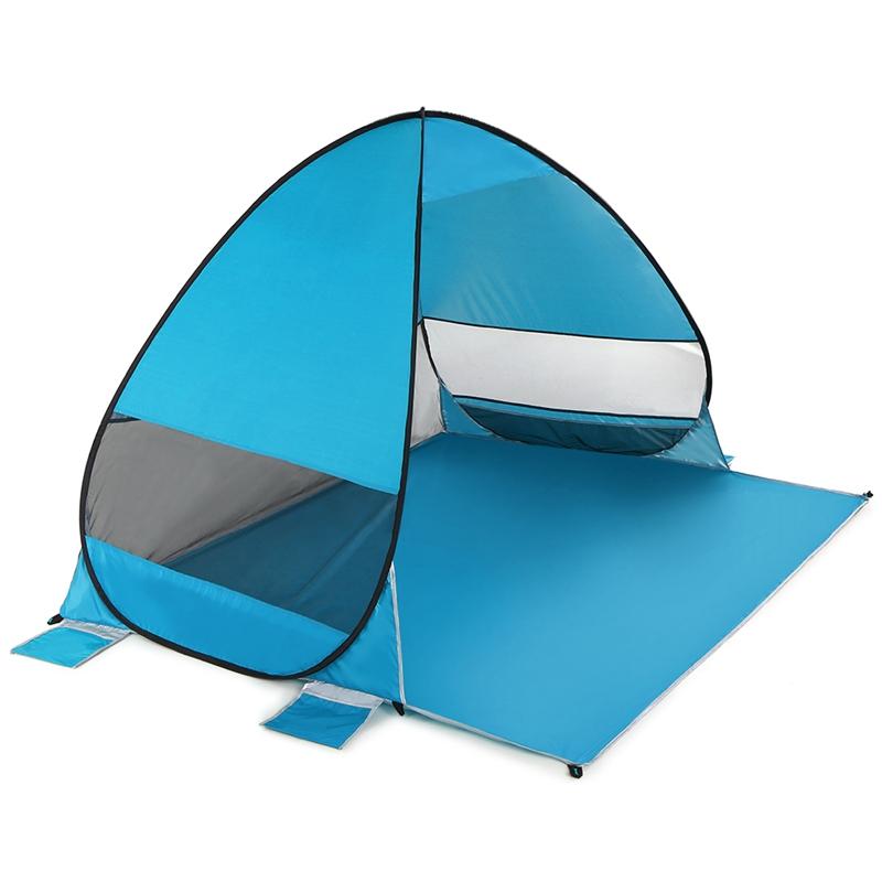 Tente-De-Plage-Automatique-Cabane-Portable-Upf-50-Abri-Soleil-Auvent-De-PEC-8Z5 miniature 13