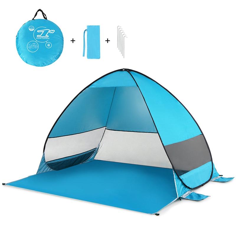 Tente-De-Plage-Automatique-Cabane-Portable-Upf-50-Abri-Soleil-Auvent-De-PEC-8Z5 miniature 16