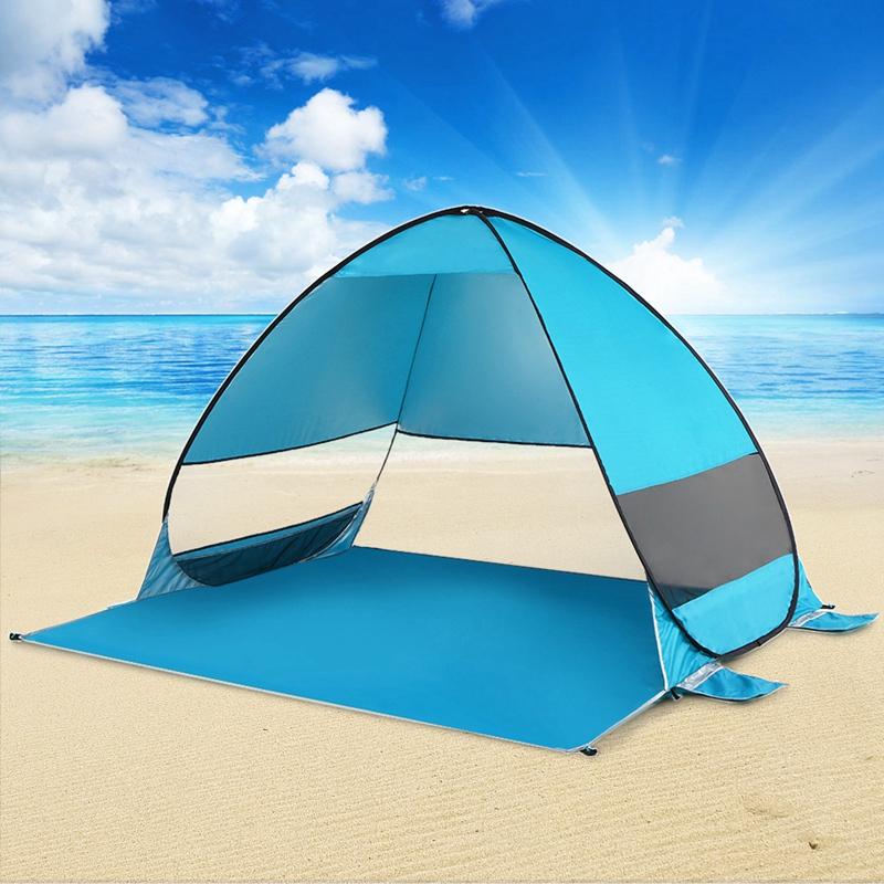 Tente-De-Plage-Automatique-Cabane-Portable-Upf-50-Abri-Soleil-Auvent-De-PEC-8Z5 miniature 18