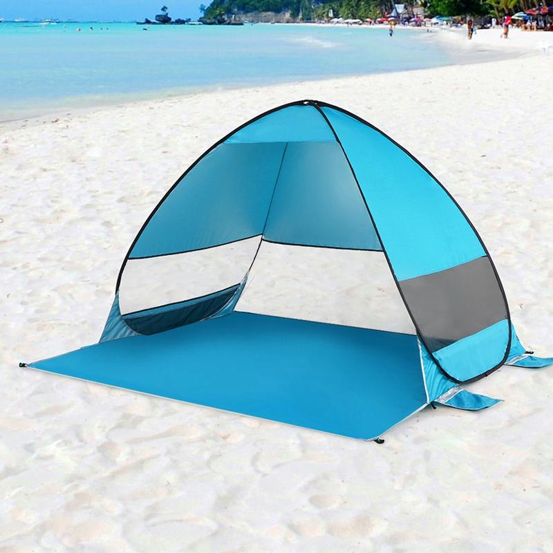 Tente-De-Plage-Automatique-Cabane-Portable-Upf-50-Abri-Soleil-Auvent-De-PEC-8Z5 miniature 19