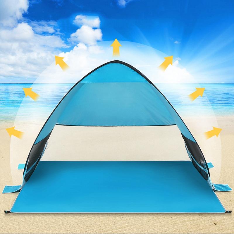 Tente-De-Plage-Automatique-Cabane-Portable-Upf-50-Abri-Soleil-Auvent-De-PEC-8Z5 miniature 20
