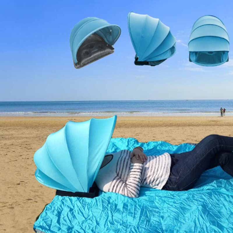 Portable-Foldable-Sunshade-Quick-Automatic-Opening-Single-Tent-Sun-Protecti-D7K9 thumbnail 6