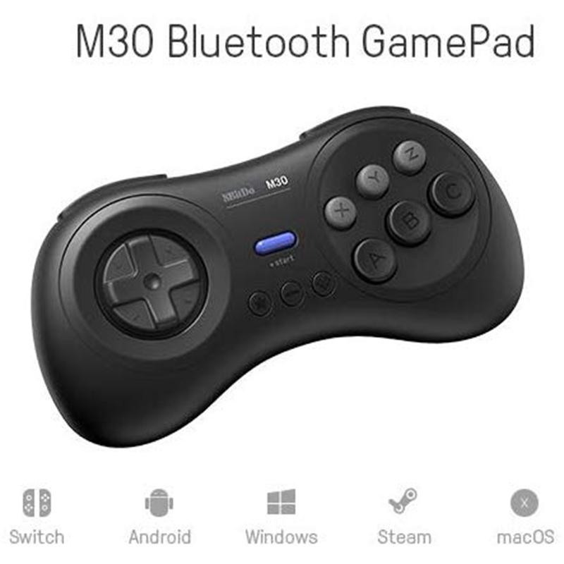 8Bitdo-M30-Game-Controller-Gamepad-For-Sega-Genesis-And-Sega-Mega-Drive-Bla-Z2M1 thumbnail 4