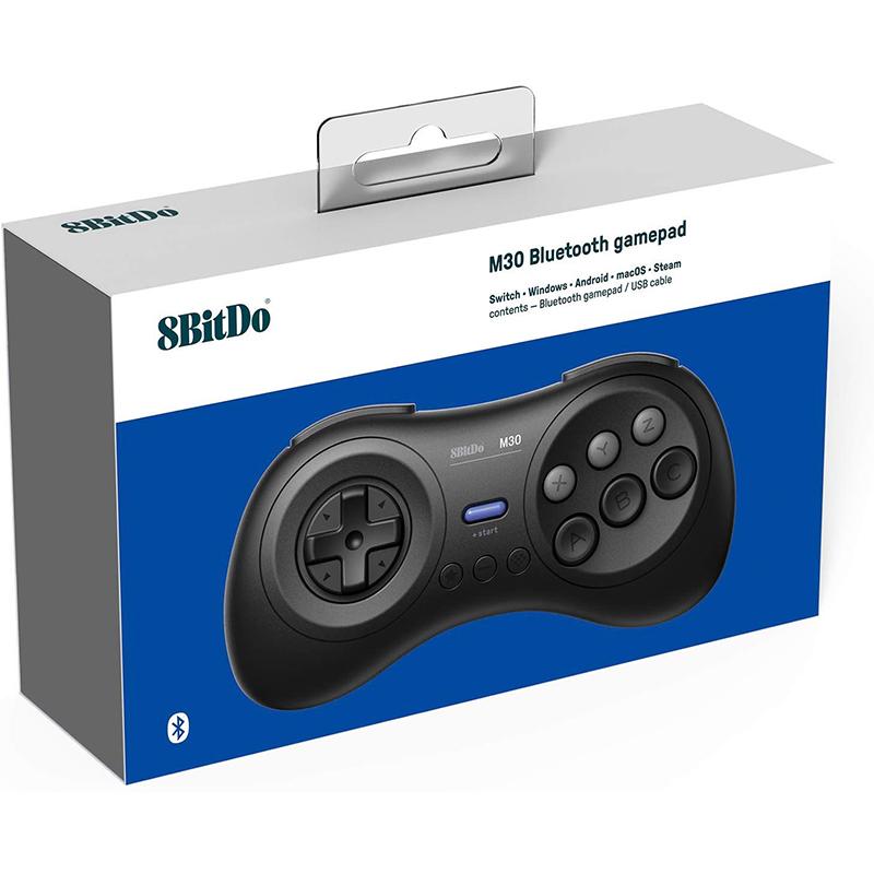 8Bitdo-M30-Game-Controller-Gamepad-For-Sega-Genesis-And-Sega-Mega-Drive-Bla-Z2M1 thumbnail 7