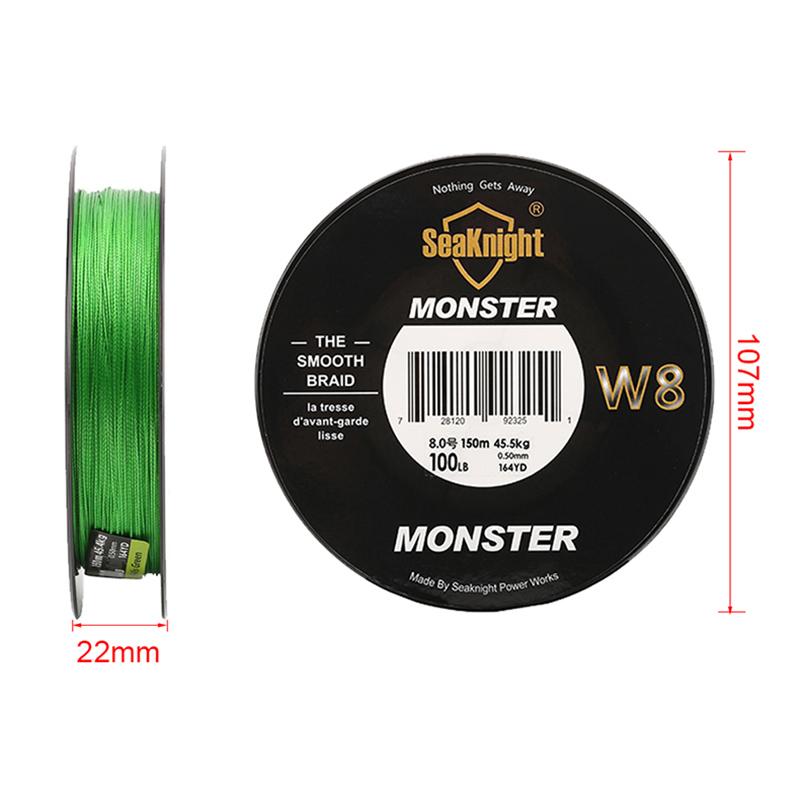 Seaknight-Monster-W8-150M-Fishing-Line-Braid-8-Strands-Smooth-Super-Line-Pe-X6U8 thumbnail 4