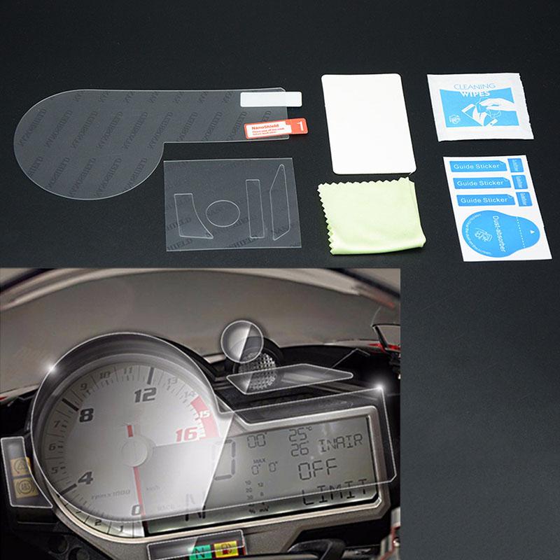 1X-Motorrad-Zubehoer-Armaturenbrett-Instrument-Tacho-Film-Display-Schutz-FolR7U7 Indexbild 4
