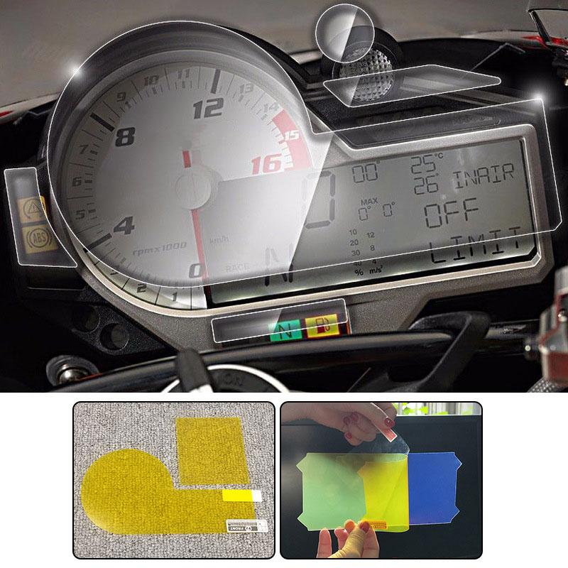 1X-Motorrad-Zubehoer-Armaturenbrett-Instrument-Tacho-Film-Display-Schutz-FolR7U7 Indexbild 6
