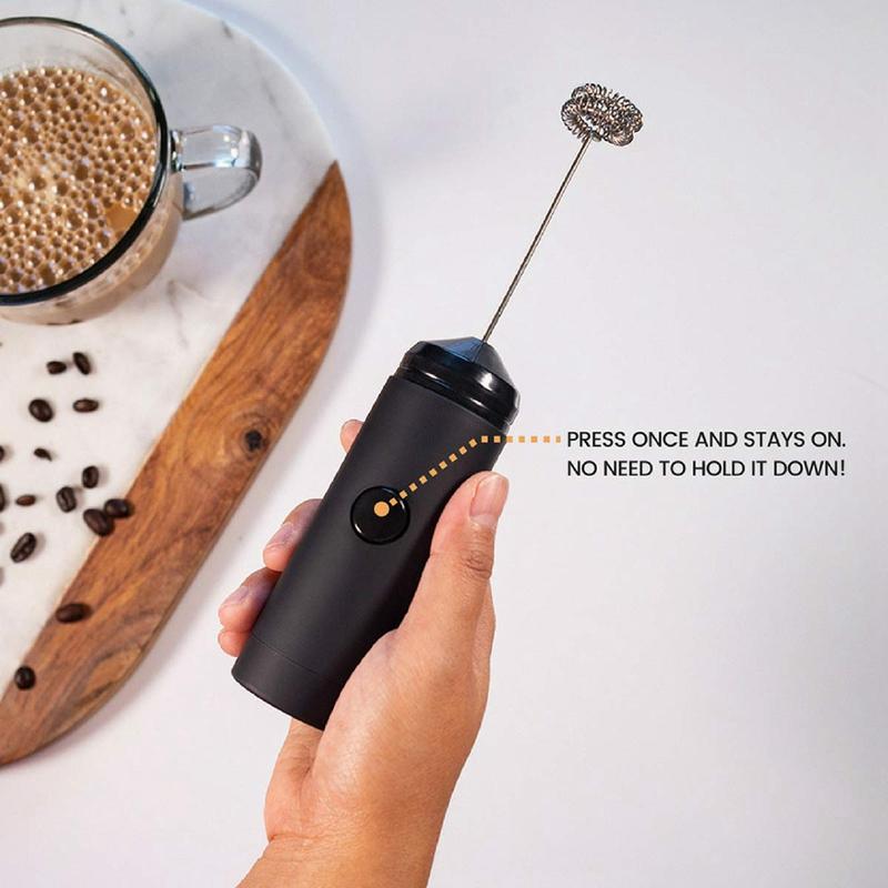 Mini Hand Milch Aufschäumer Batterie Betriebener Elektrischer Schaum P6V8