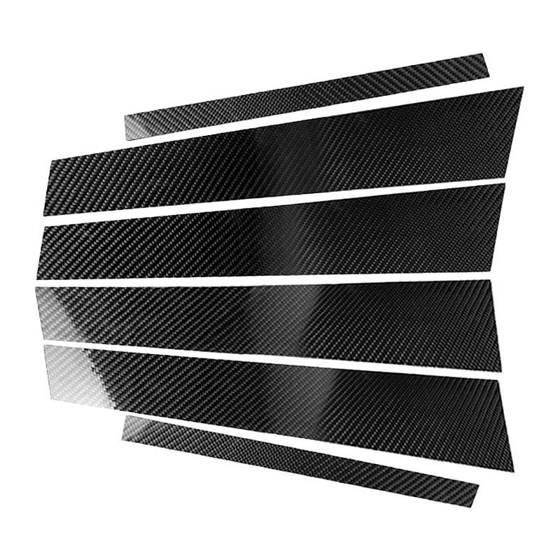 Fibra-de-Carbono-Recortar-de-Moldura-de-Pilares-B-de-Ventana-de-Coche-Etiqu-Y1Q9 miniatura 3