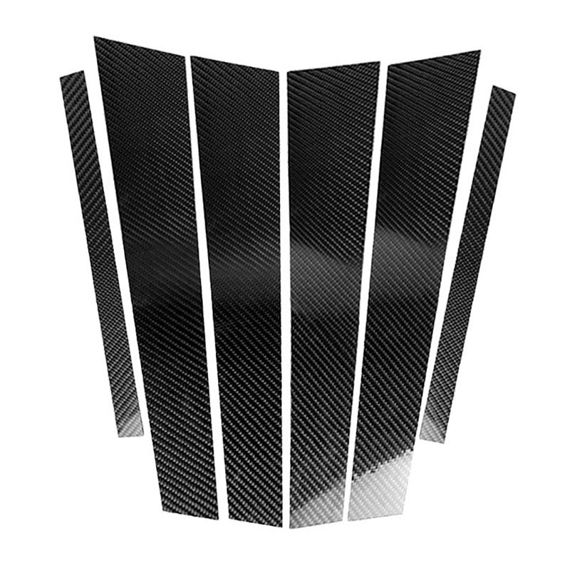 Fibra-de-Carbono-Recortar-de-Moldura-de-Pilares-B-de-Ventana-de-Coche-Etiqu-Y1Q9 miniatura 5