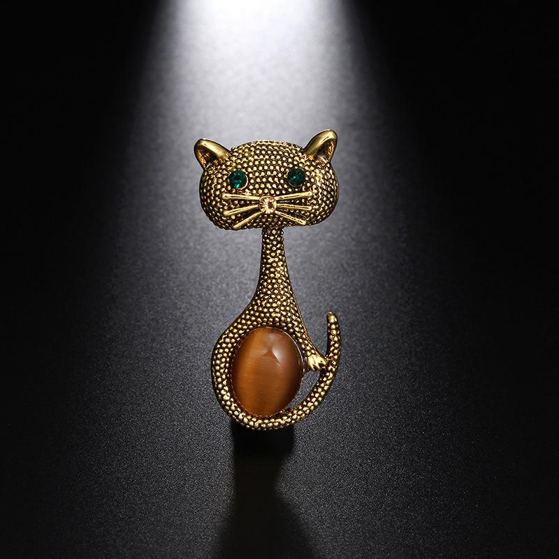 Vintage-oPalo-Broche-De-Ojo-De-Gato-Patas-Para-Mujer-Broches-De-Animales-Li-L5G9 miniatura 10
