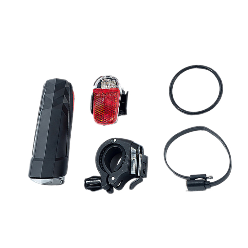 5XJuego de Luces para Bicicleta USB Reautogable, Luces Delanteras y Luces d 9S7