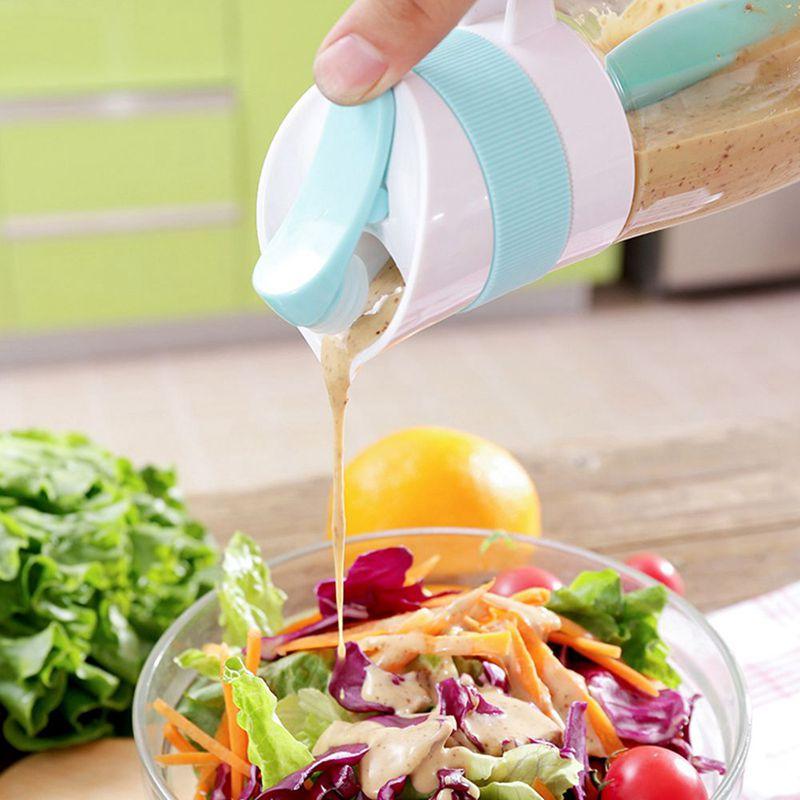 2X-Creative-Salad-Juice-Manual-Bottle-Fruit-Salad-Rotating-Dressing-Mixer-U1H2 thumbnail 7