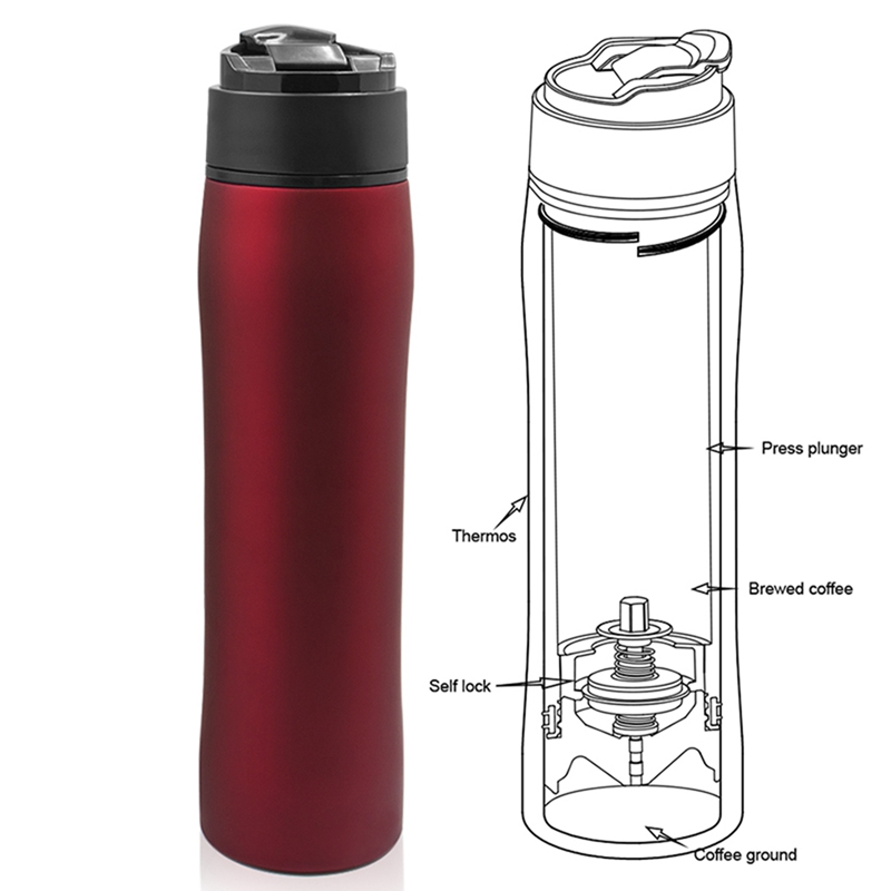 7419c3982f5 Original Portable French Press Coffee Maker Vacuum Insulated Travel ...