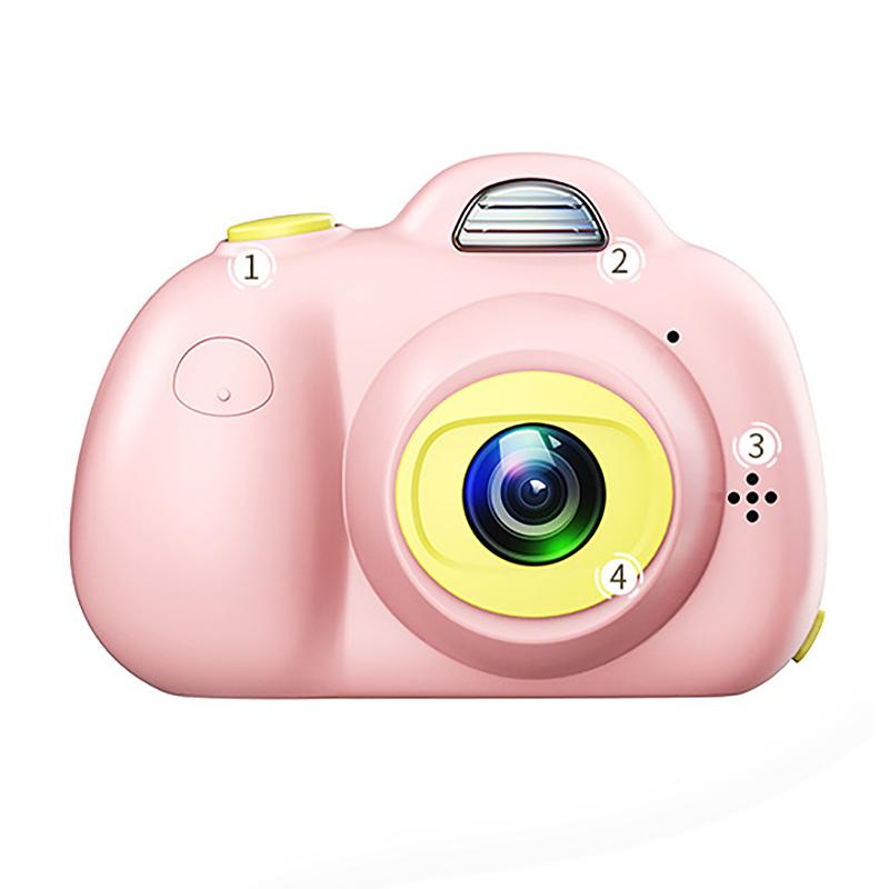 Camera-Numerique-Mignons-Pour-Enfant-Mini-Camera-Double-Lentille-Hd-1080P-C-E5S3 miniature 2