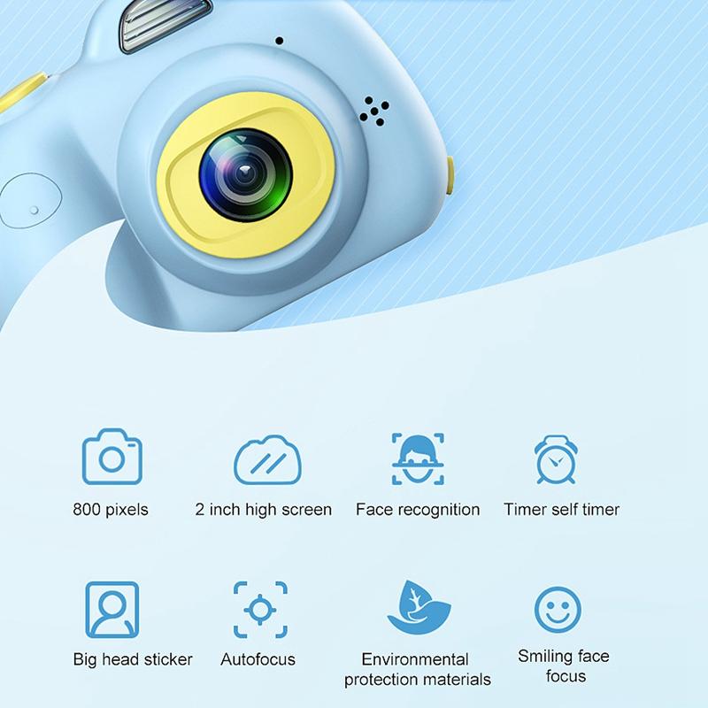 Camera-Numerique-Mignons-Pour-Enfant-Mini-Camera-Double-Lentille-Hd-1080P-C-E5S3 miniature 12