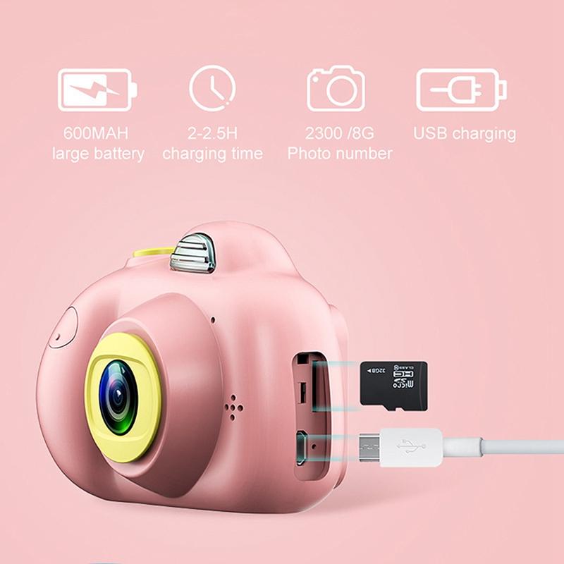Camera-Numerique-Mignons-Pour-Enfant-Mini-Camera-Double-Lentille-Hd-1080P-C-E5S3 miniature 19