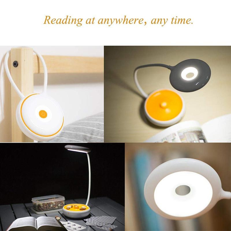 1X-Bett-Lese-Lampe-Schwanenhals-Schreibtisch-Lampe-Batterie-Betrieben-Pre-R5S6 Indexbild 4