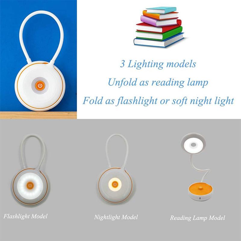 1X-Bett-Lese-Lampe-Schwanenhals-Schreibtisch-Lampe-Batterie-Betrieben-Pre-R5S6 Indexbild 6