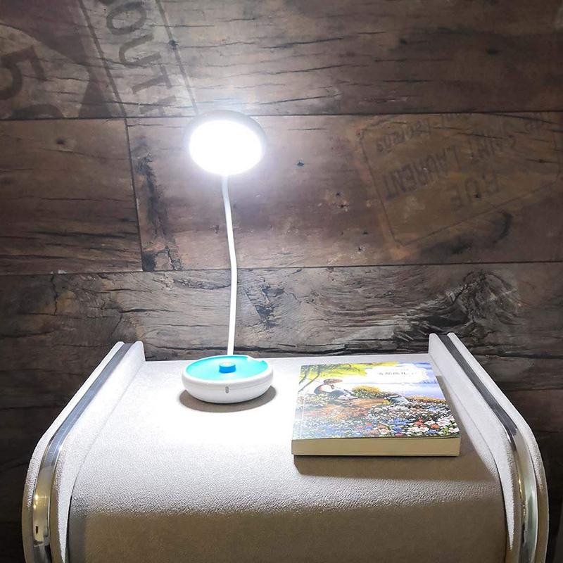 1X-Bett-Lese-Lampe-Schwanenhals-Schreibtisch-Lampe-Batterie-Betrieben-Pre-R5S6 Indexbild 9