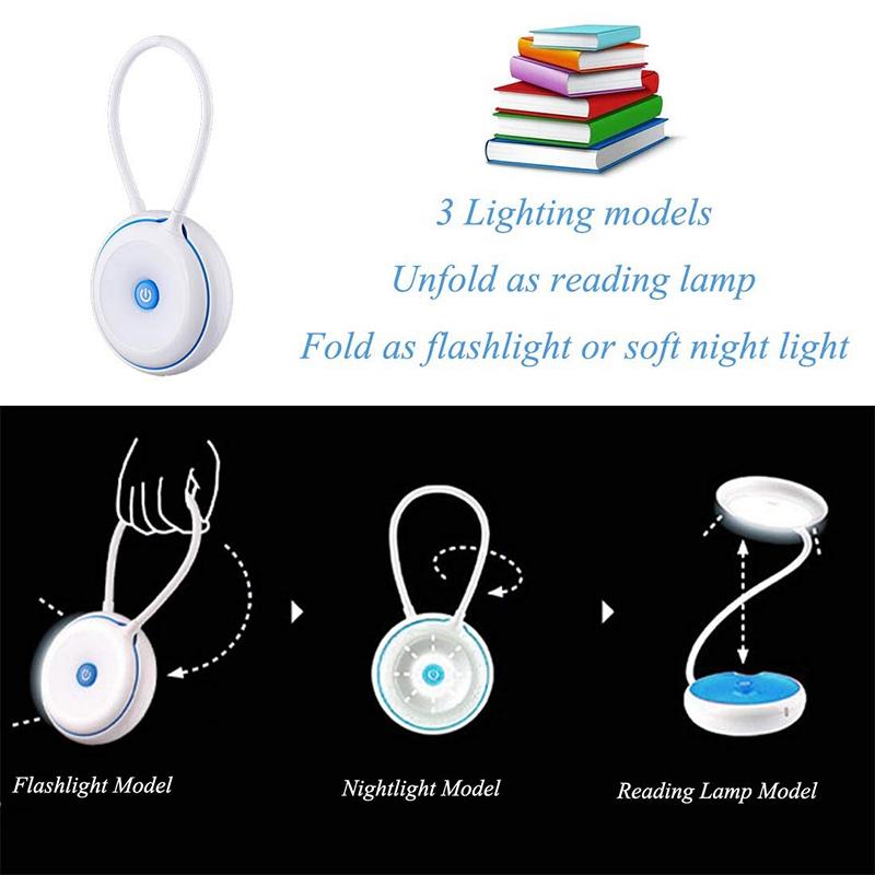 1X-Bett-Lese-Lampe-Schwanenhals-Schreibtisch-Lampe-Batterie-Betrieben-Pre-R5S6 Indexbild 12