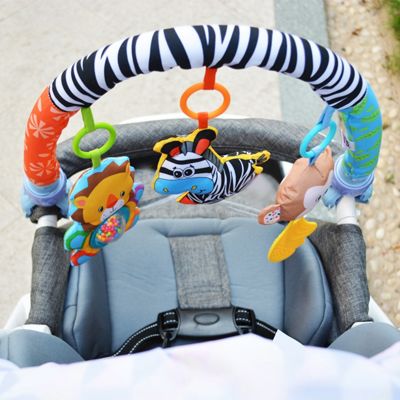 Baby-Stroller-Bed-Crib-Hanging-Toys-For-Tots-Cots-Rattles-Seat-Cute-Plush-S-M3B6 thumbnail 11