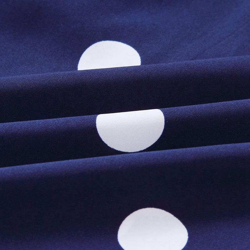 thumbnail 7 - Women-Polka-Dot-Print-Dress-Summer-Beach-Short-Sleeve-V-Neck-Dress-Elegant-G6N6