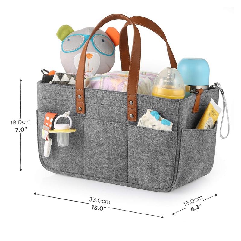 Baby-Diaper-Caddy-Organizer-Portable-Holder-Shower-Basket-Portable-Nursery-B6N4 thumbnail 3
