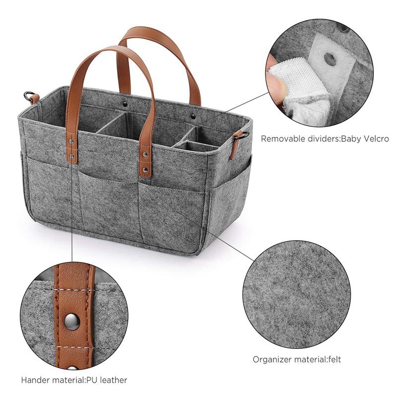 Baby-Diaper-Caddy-Organizer-Portable-Holder-Shower-Basket-Portable-Nursery-B6N4 thumbnail 4